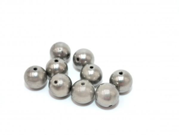 schwere 8mm Edelstahl Kugeln , Perlen solid mit 1mm Loch, Z-P-5102 von diy-pferdehaarschmuck.de