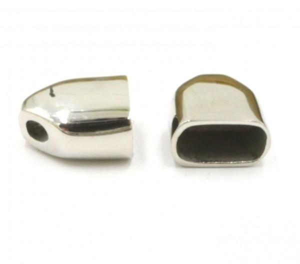 2 Stück ovale Endkappe, Edelstahl, innen: 11,5x6mm (K/5-B5)