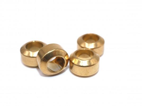 goldene Edelstahl Hülse oder kurzes Rohr ,Rondell Perle innen 6,5mm, diy-pferdehaarschmuck, PF-H-4060