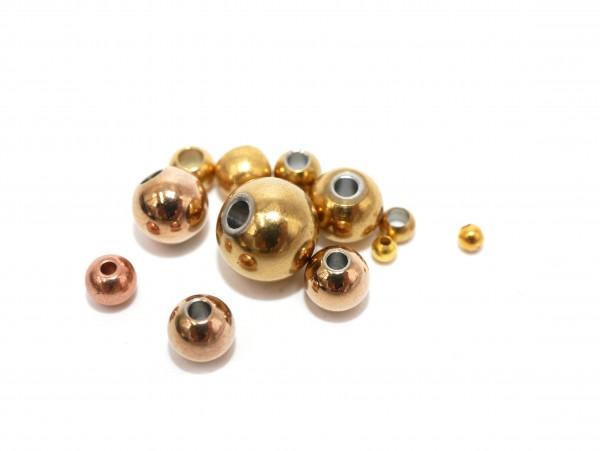 Edelstahl Kugeln solid, golden oder rosé, ab 3mm, Edelstahlperlen K18/A2-A8