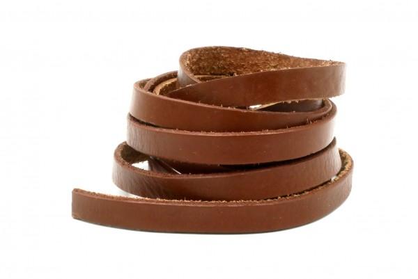 Leder 10 x 2 mm Bänder, braun, Leder Material, Lederband,