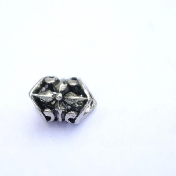 Ornament Hülse i: 5x 12mm, durchbrochen- Antik Look (K/3-B8)