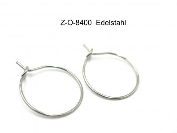 Creole Edelstahl Loops, Z-0-8400, Ohrringe , Ohrschmuck v. Diy.gutelauneschmuck.de