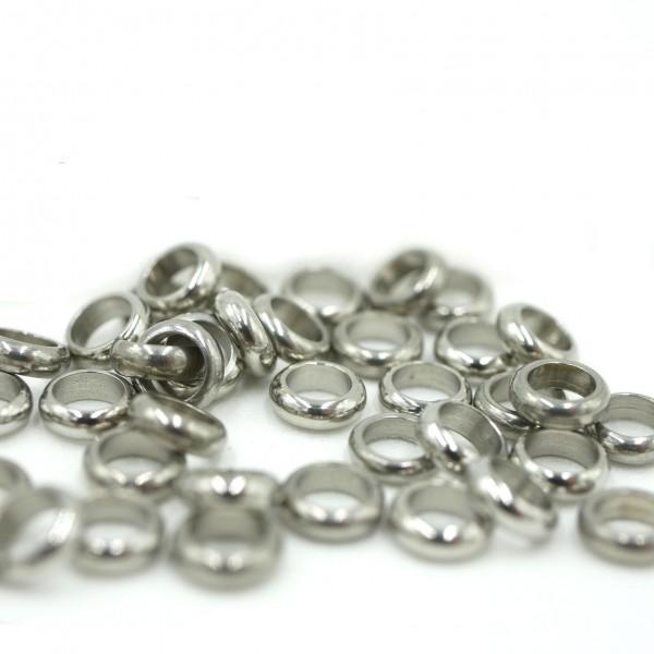 10x geschlossener Edelstahl Ring, Öse, 5,8x1,8mm - innen 3,8mm (S1/B)