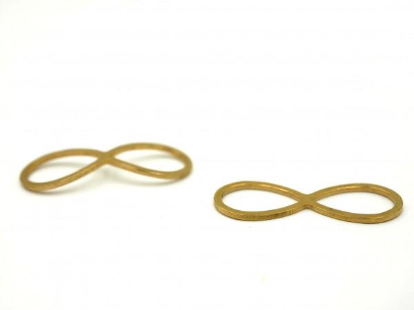Infinity schleife dünn , fein , edelstahl golden 20x9x1mm PF-IN-7017