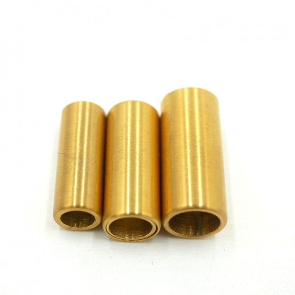 Magnetverschluss mattiert goldene Hülse, Innen: 4, 5 und 6mm, Edelstahl Z-V-8001