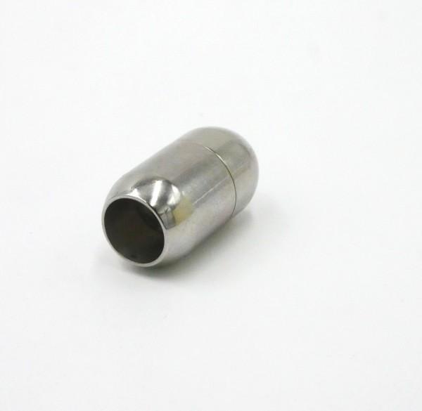 Magnet Verschluss, Edelstahl, 8mm, Walze (K/9-A6)