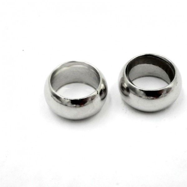 geschlossener Edelstahl Ring, Öse, 10x2,6mm - innen: 7mm (S1/B)