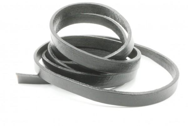 Leder 10 x 2 mm Bänder, Schnüre,schwarz, Leder Material, Lederband,-