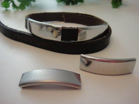 Überschieber , Rechteckig edel matt oder poliert für Armbänder