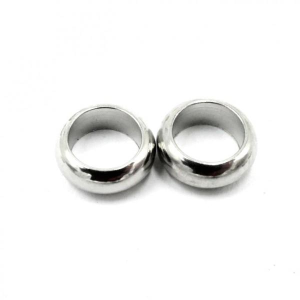 geschlossener Edelstahl Ring, Öse, 8-7,8x3mm - innen: 5,5mm (S1/B)