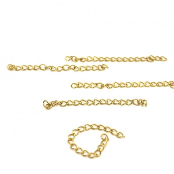Z-V-8194 Verlängerungs kette edelstahl golden