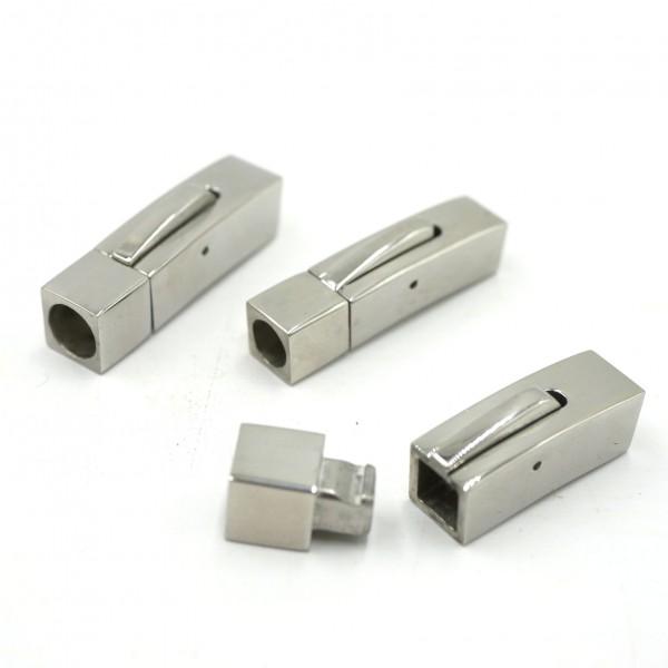 i: 5mm+6mm eckiger Schnappverschluß Edelstahl aber innen rund (K/9-D1)