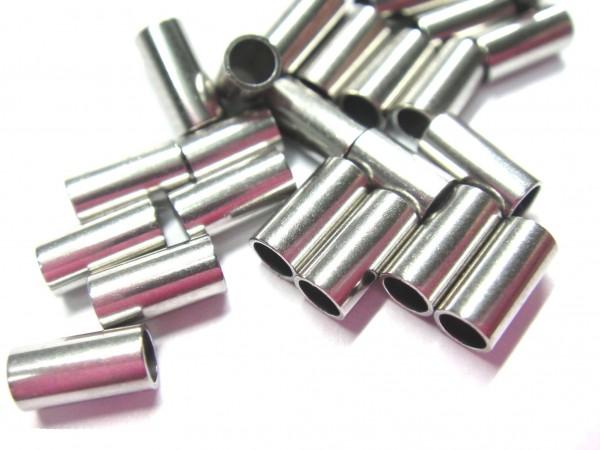 Edelstahl-Hülsen, innen :2,2mm, außen: 3mm, Länge: 6 und 10mm (K/2-A4+A5)