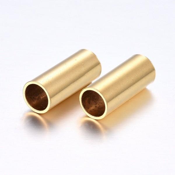 Edelstahl golden , innen 4mm PF-H-4103 Diy-Pferdehaarschmuck.de