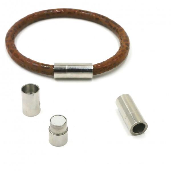 Magnetverschluss Hülse, für 6mm Durchmesser, Edelstahl (K/9-B3)
