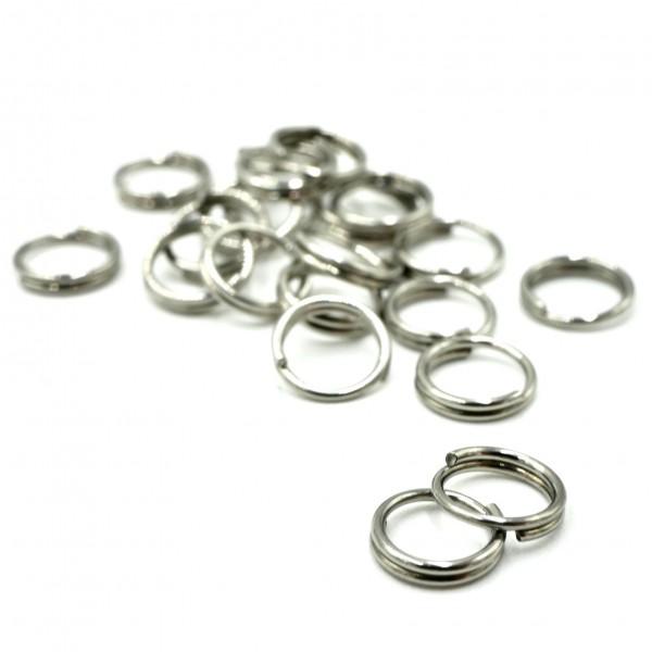 20 Splitringe geschlossen Edelstahl Ringe, Binderinge für die Schmuckfertigung 6mm