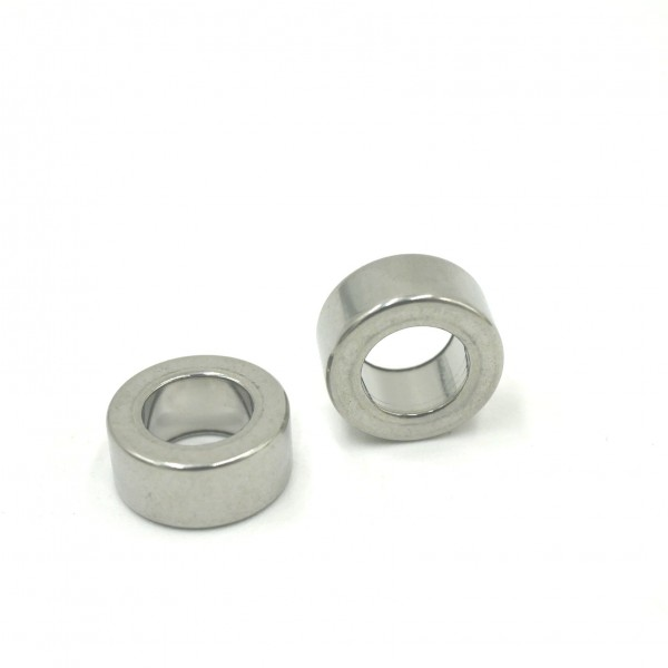 Rondell, 10 x 4,5mm, innen: 6mm Edelstahlhülse, dicke Scheibe, Kreisgravur möglich K29/C4