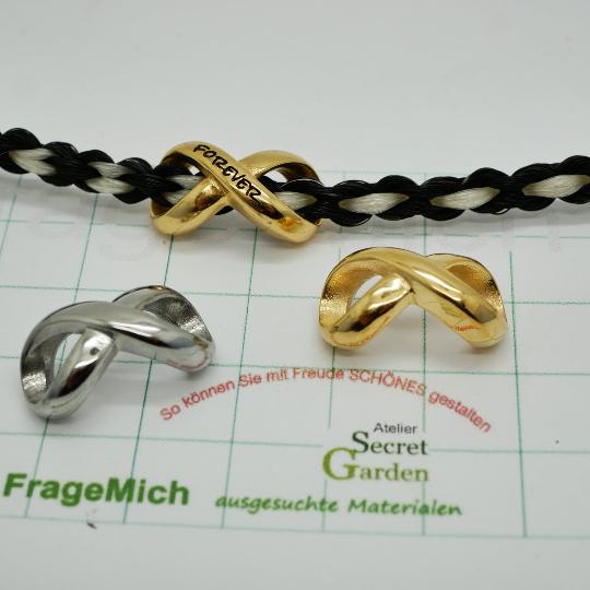 Infinity Perle Großloch Überschieber, Unendlichkeitsschleife, K/1-B6,7,8)