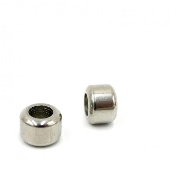 Rondell, 10 x 7,5 innen 5,5 mm Edelstahl, großer Radius, PF-H-5049