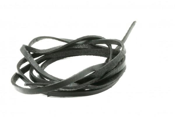 Leder 3 x 21,5 mm schwarz