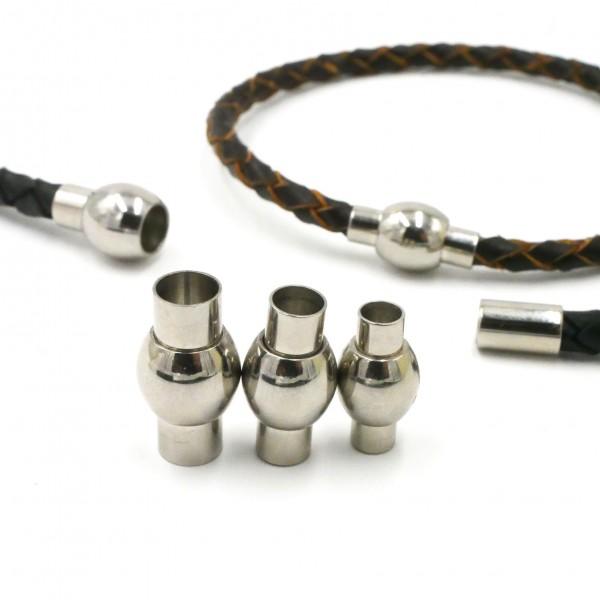 Magnetverschluss, Edelstahl, Kugel mit Endkappe, innen 4, 5 und 6mm (K/9-A1-2)
