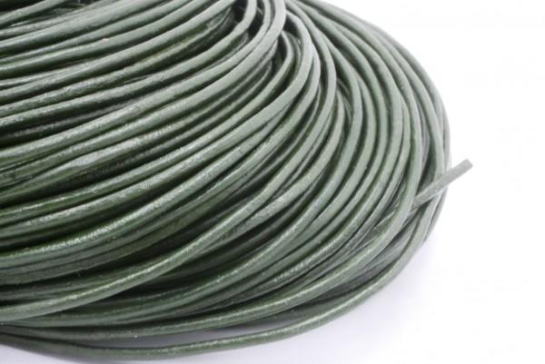 dunkelgrün , lederband 2mm