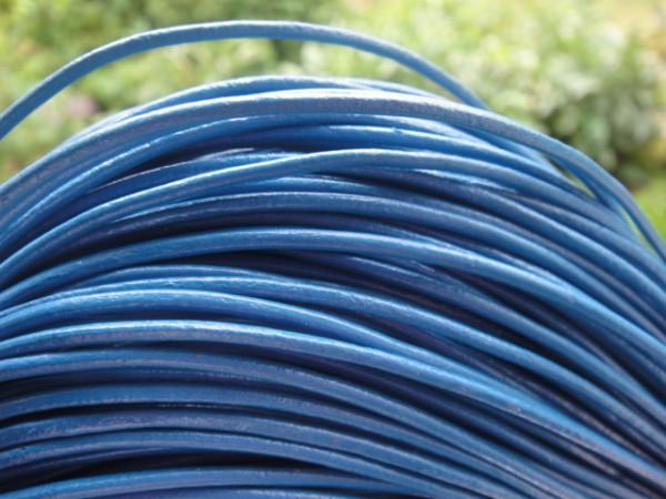 Lederschnur 2mm Blautöne Material,Leder - Lederband-Copy