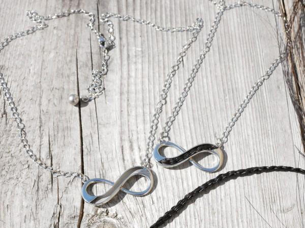 Anhänger, Infinity, Unendlichkeitsschleife für Pferdehaar Kette (K/1-A1)
