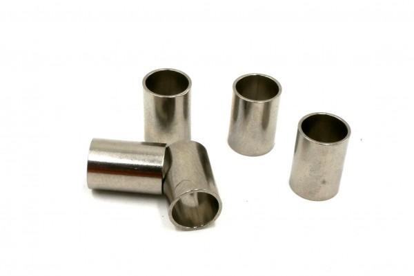 Edelstahl-Hülse, Di: 5mm, Da: 6mm, Länge: 9mm, Zwischenteil, mit Gravur Option (K/2-A8)