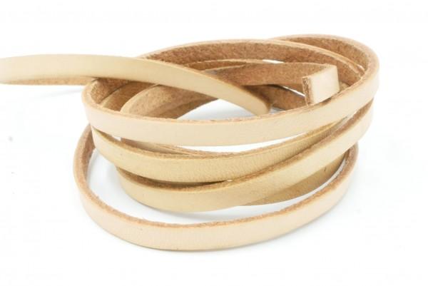 Leder 5x2 mm Bänder, natur , Material, Lederband,-